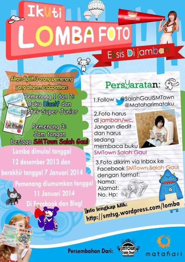 Poster Lomba Buku SMTown Salah Gaul