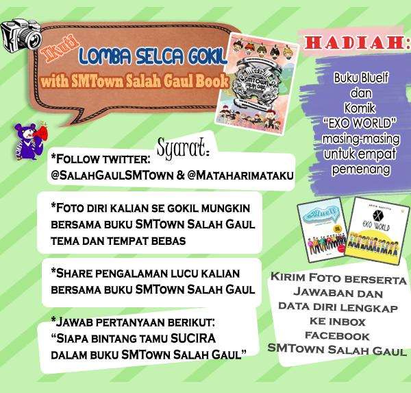 Poster Lomba Selca Gokil With Buku SMTown Salah Gaul 1